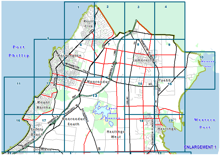 Select map sheet from map
